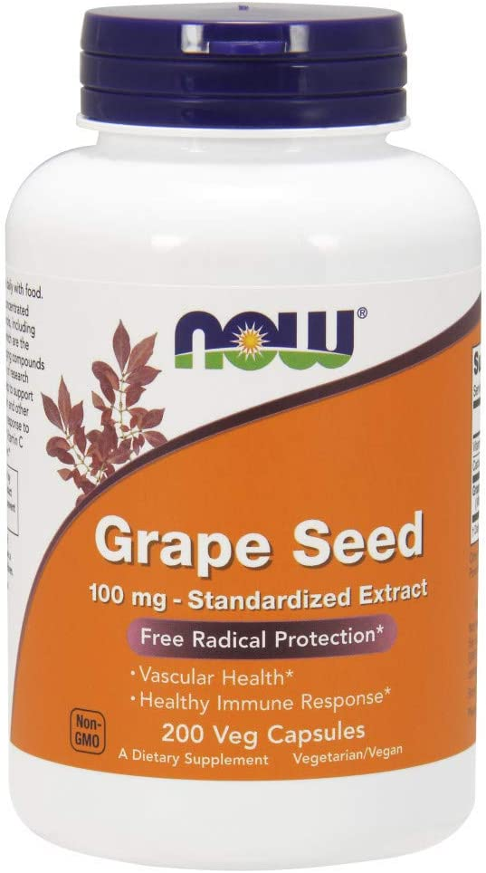 NOW Supplements Grape Seed 100 Miami Mall Weekly update mg Standardized Extract - Highl