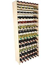 Estantería de madera RW-3-91 para vino, botellero para 91 botellas, de 172 x 72 x 26,5 cm