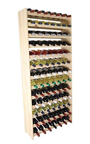 Estante de madera para botellas de vino para 91 botellas RW-3-91 172 x 72 x 26,5 repisa de madera para botellas de vino