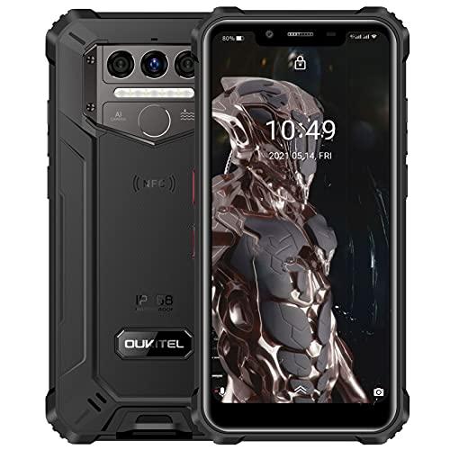 スマホ本体simフリー、OUKITEL WP9 防水simフリースマートフォン 8,000mAhの大容量バッテリー androidタフ...
