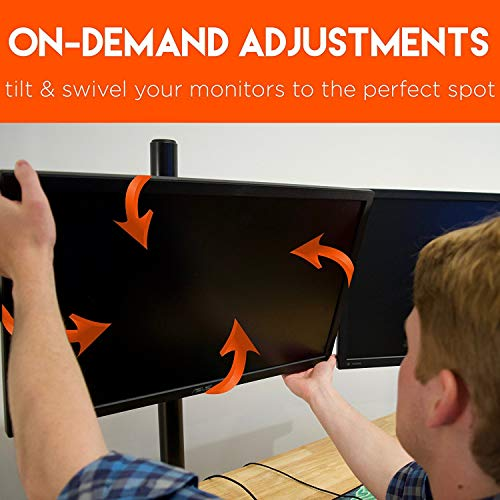 ECHOGEAR Triple Monitor Desk Mount Stand for 3 Screens Up t   o 27