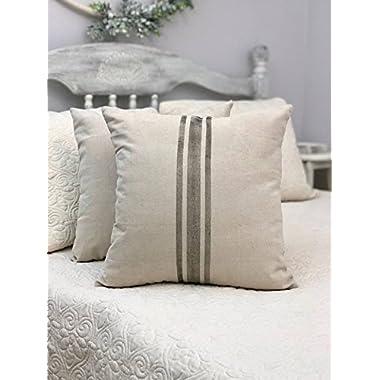 Pillow Cover Ticking stripe farmhouse stripes - ticking stripe - farmhouse style pillow - grain sack pillow - vintage farmhouse look