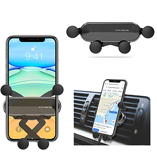 FOJJIYUAL Soporte Móvil Coche,Porta Movil Coche para Rejillas del Aire de Coche,Universal Soporte Móvil Coche ventilacion Gravedad para iPhone,Samsung, Huawei, etc. de 4.7 a 6.5Pulgadas-Nuevo