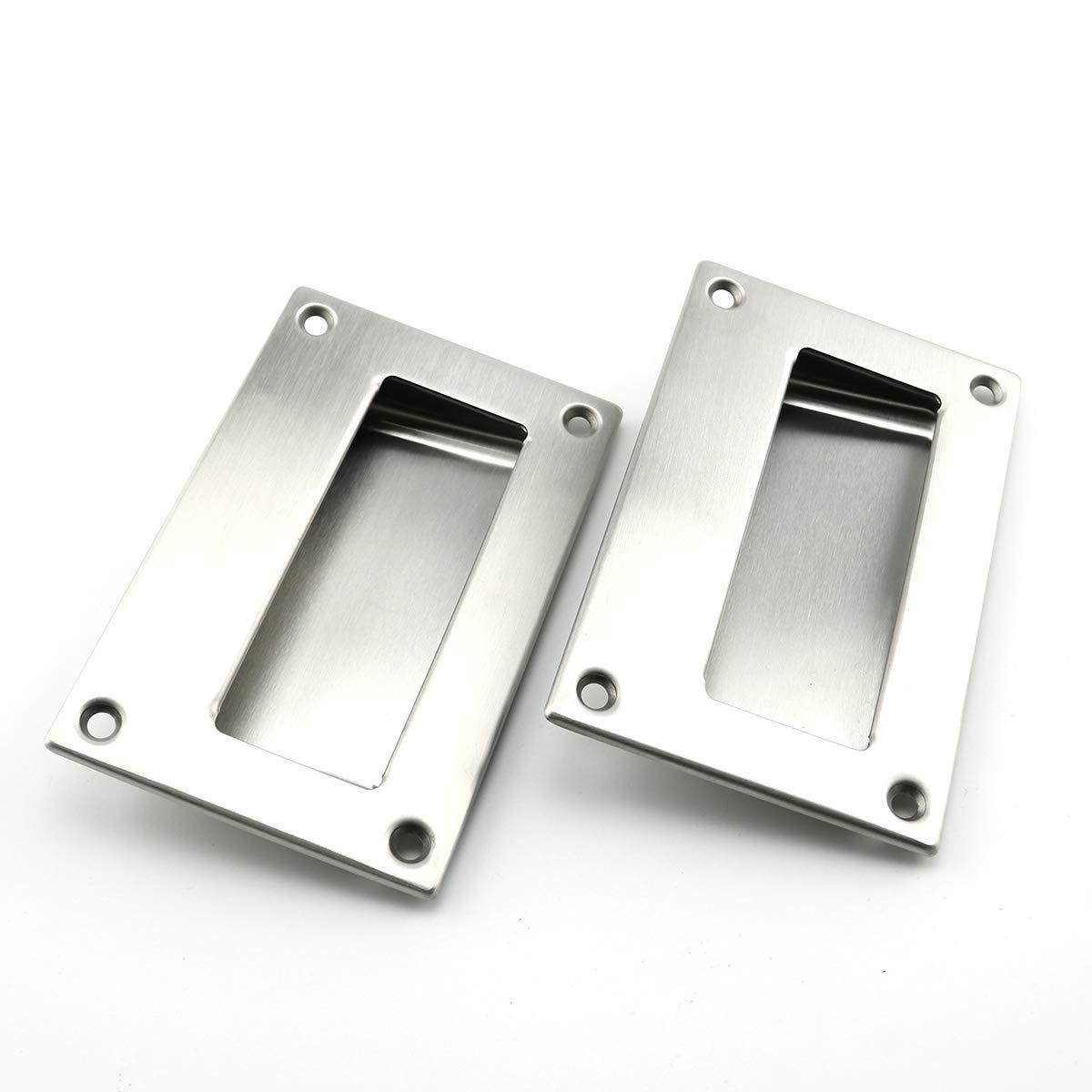 Heyous - Tirador cuadrado de acero inoxidable para puerta de ...