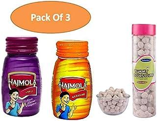 2 x 120 Tablet Each Bottle Dabur Hajmola Imli and Original Flavor With 1 x DILBAHARS Aam Goli 100gm