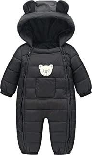 Genda 2Archer Infant Toddler Warm Romper Jumpsuit Double Zipper Hood Cotton Snowsuit