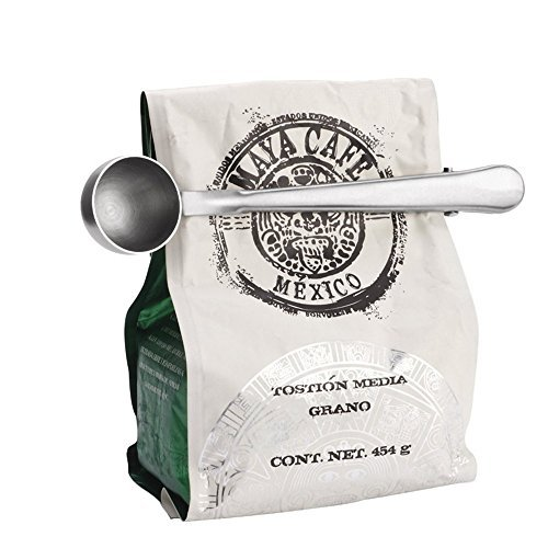 Toysdone Coffee Scoop Stainless Steel Long Handled Tea Spoon with Bag Clip Silver