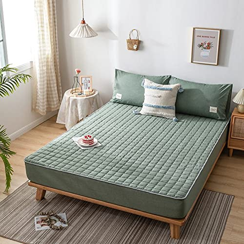 BOLO Protector de colchón de protección contra ácaros para girar, protector de colchón, cama con somier, protector de colchón acolchado, 48 x 74 cm, 2 unidades