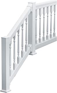 Fypon 740636CLDF QuickRail Straight Kit with Colonial Spindles and 3 1/8