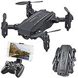 Simulus Dronen: Faltbarer FPV-Mini-Quadrocopter, Full HD, WLAN, App, 5-MP-Sensor, 50 m (Quadkopter)