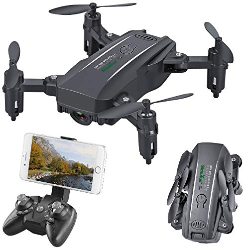 Simulus Dronen: Faltbarer FPV-Mini-Quadrocopter, Full HD, WLAN, App, 5-MP-Sensor, 50 m (Quadkopter)
