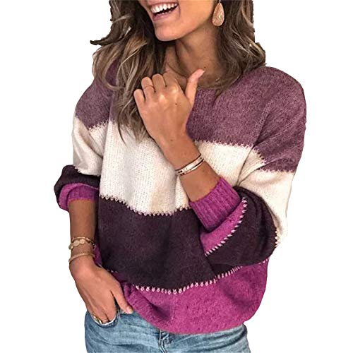 Doufan Fashion Patchwork O-hals Herfst Winter Sweater Vrouwen Lange mouwen Warm Gebreide Truien Pullover Vrouwelijke Tops Jumper