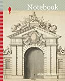 Notebook: Triumphal Arch with Order of the Golden Fleece at Center, n.d., Unknown Artist, either German or Neopolitan, Germany, Pen and brown ink, and ... on ivory laid paper, pieced at the bottom