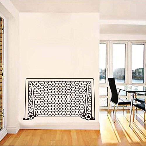 Fußball Fußball Tor Netz Ball Sport Wandtattoo Vinyl Dekor Kunst Wandaufkleber Für Jungen Zimmer Kinder Kinderzimmer Home Decor Wandbild