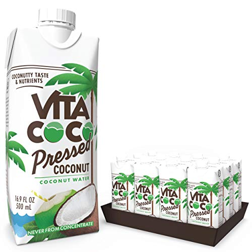 Vita Coco Coconut Water, Pressed Coconut | More 'Coconutty' Flavor | Natural Electrolytes | Vital Nutrients | 16.9 Oz (Pack Of 12)
