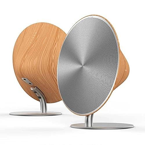 IYUNDUN Altavoz Inalámbrico Bluetooth De Madera Retro, Audio De Subwoofer De Control Táctil De Alta Fidelidad De Grano De Madera, Soporte NFC, Altavoz Estéreo De Escritorio Bluetooth 4.2