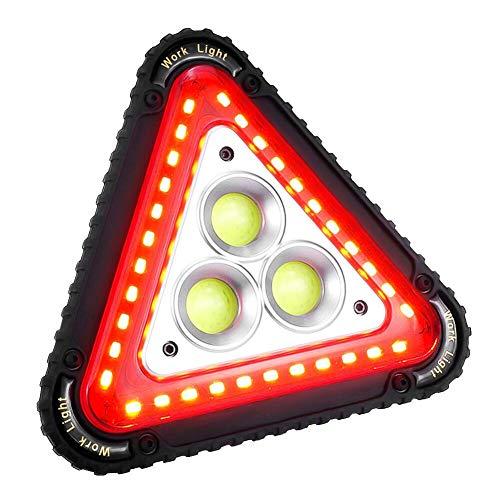 SaponinTree Luz De Trabajo Portátil De LED, Luz De Emergencia Coche, 4 Modos Linterna Al Aire Libre Impermeable, Recargable Portátil Manejar Reparación De Automóviles Luz De Inundación, 30W