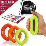 3 in 1 Handmuskeltrainer & Fingertrainer - Handtrainer Ring & Unterarm Trainingsgerät aus Silikon für bessere Fingerkraft, Handkraft & Griffkraft - Grösste Amazon Auswahl (27-36kg)