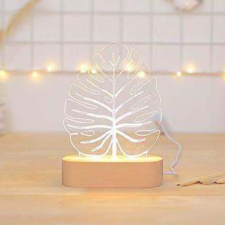 TYXL Night Light Arbre Feuilles Accessoires Photo Posant Décoration LED Lumières Cadeau De Vacances Lampe De Table Nuit Lu...