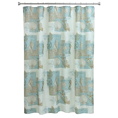 Bacova Guild  Coastal Moonlight  Fabric Shower Curtain