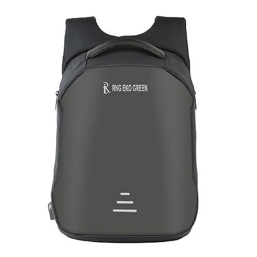 e06b552ca746 RNG EKO GREEN 30 Litre Anti Theft Backpack with USB Charging Port - Black  (Waterproof