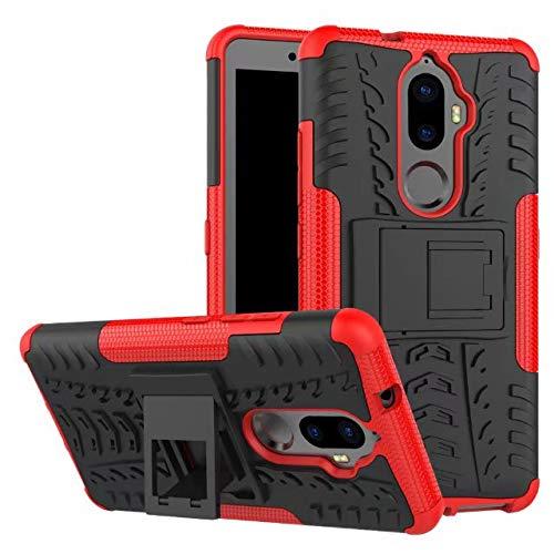 Jielangxin Keji Case for Lenovo K8 Plus Case Cover,Case for Lenovo K8 Plus Case Shockproof Mobile Phone Case Stand Red