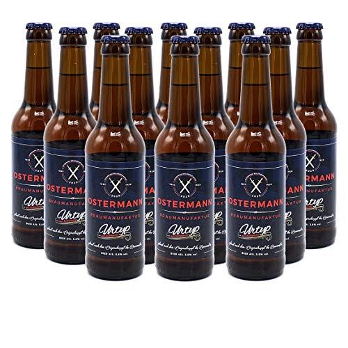 Ostermann Urtyp - Craft-Bier aus Schwerte, süffig, lecker nach dem Originalrezept um 1890 (12x Mehrwegflasche a 0,33l)