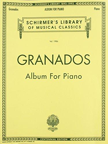 Album For Piano: Noten für Klavier: Schirmer Library of Classics Volume 1986 Piano Solo (Schirmer's Library of Musical Classics)
