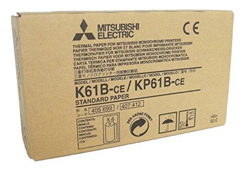Mitsubishi Electric Corporation k61b-ce/kp61b-ce Kit papel térmico para impresora Medicale, A6, 110mm x 20m, 4unidades)