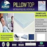 Pillow Top Hospitalar Anti Escaras Viscoelástico Nasa Gel Infusion (0,78 X 1,88 X 0,05 m)
