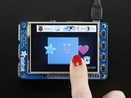 PiTFT Plus 320x240 2.8 TFT + Resistiver Touchscreen für Raspberry Pi - Geeignet für RPi 2 / A+ / B+ - Bausatz