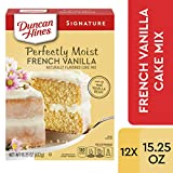 Duncan Hines Signature Perfectly Moist French Vanilla Cake Mix, 12 - 15.25 OZ Boxes