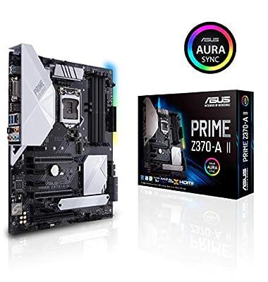 ASUS Prime Z370-A II (Intel 9th Gen) DDR4 DP HDMI DVI M.2 USB 3.1 Z370 II ATX Motherboard Gigabit LAN and USB 3.1