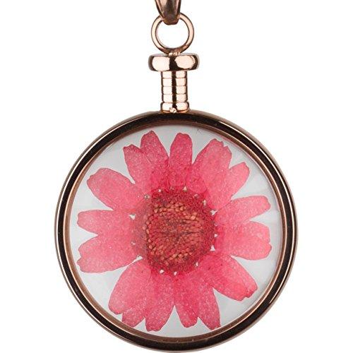 blumenkind Anhänger Blume roségold/rot BL01MRORE