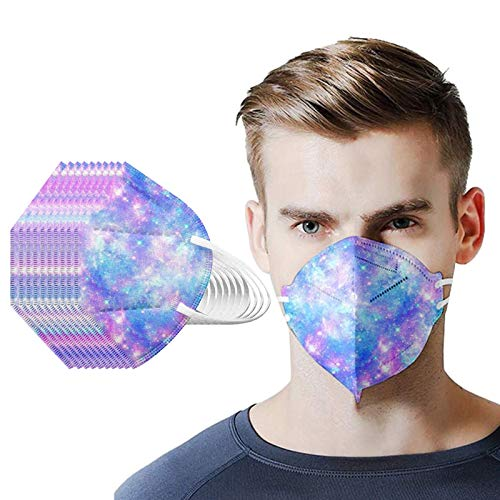 10PC Disposаble Face Mẵsk FDẴ Certified, 5 Layers Face 𝐌𝐚𝐬𝐤 for Coronavịrụs Protectịon, Unisex Non-woven Fabric Fịltеr Cloth Fàce Màsk, Fịltеr Efficiency ≥95% with Valved Respịràtor Blue