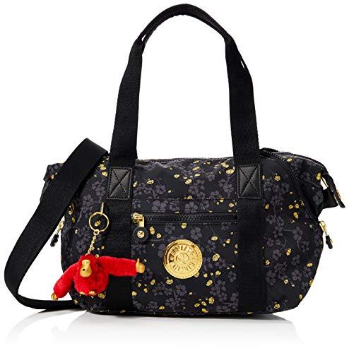 Kipling Damen Art Mini Tornistertasche Mehrfarbig (Grey Gold Fl)