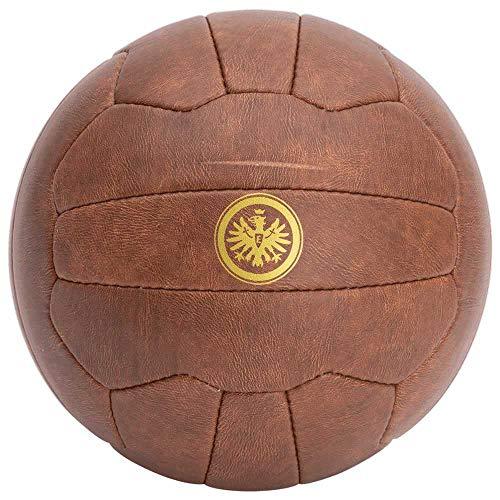 Eintracht Frankfurt Fußball - Retro - braun, Ball Gr. 5 SGE - Plus Lesezeichen I Love Frankfurt