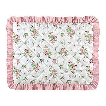 Collections Etc Rosebud Ruffled Edge Pillow Sham Pink Flowers Sham