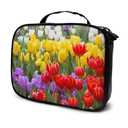 Beau Bouquet De Tulipes Voyage Taille De Voyage Sac Cosmétique Sac De Maquillage Pas Cher Maquillage Sac Multifonction Imprimé Poche pour Les Femmes