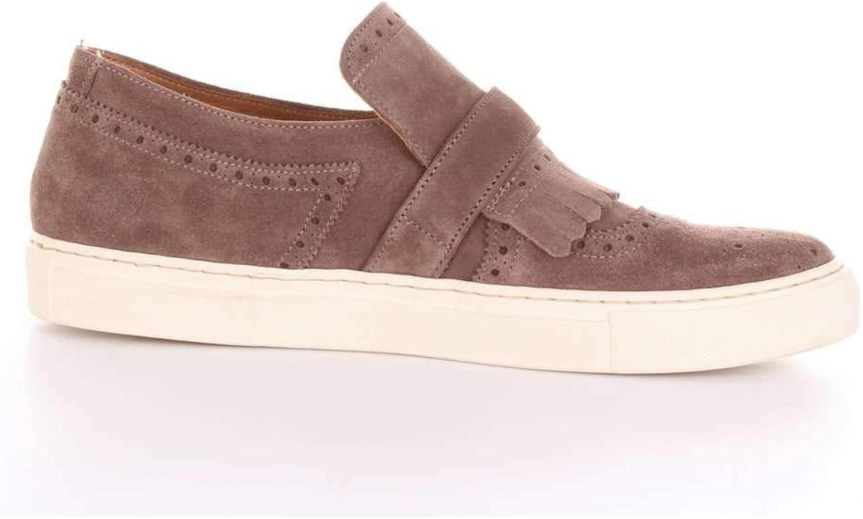 32baeaf79 Adolfo Carli Men's 11941DARKGREY Grey Suede Slip On Sneakers Sneakers  Sneakers 132c60