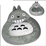 UTOPIAY Rundes Totoro-Form-Hundebett, Graues Katzenbett Mein Nachbar-Haustierbett Studio Ghibli Hayao Miyazaki Im Herbst Und Winter,Style1