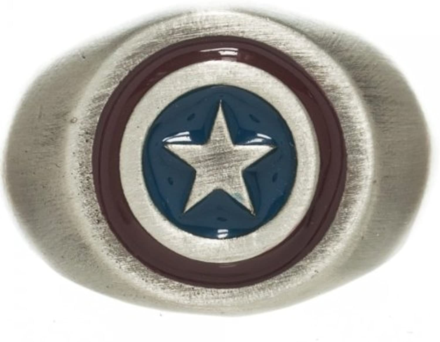 Marvel Captain America Brushed Nickel Ring 9.5