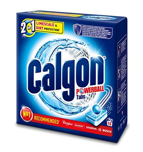 Calgon 2in1 Tabs,Wasserenthärter gegen Kalk&Schmutz in der Waschmaschine,15 Stk