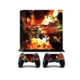 Soldier In The Flames Print PS4 PlayStation 4 Vinyl Wrap / Skin / Cover /...