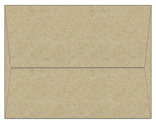 "100 Kraft A7 Envelopes - 7.25"" x 5.25"" - Square Flap"