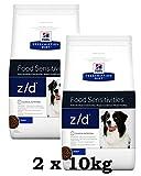 Pienso para perros Hill's Prescription Diet z/d libre de alérgenos, 2 unidades de 10 kg (20 kg en total)