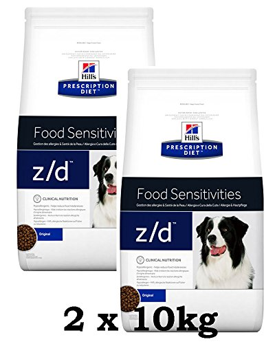 Hill's,️ Crocchette Prescription Diet Canine z/d Ultra Allergen Free, 2 x 10 kg = 20 kg