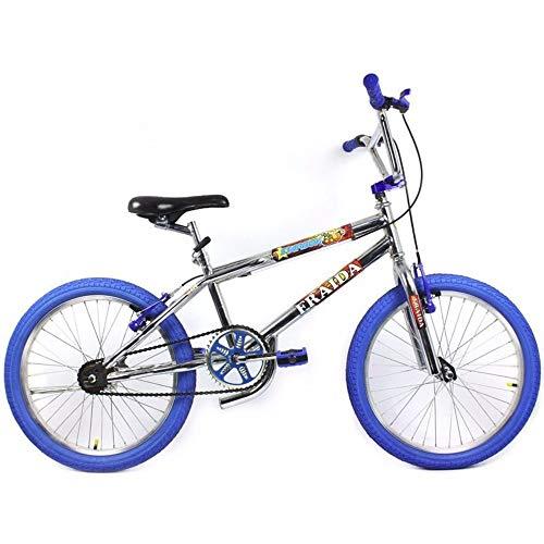 Bicicleta BMX Aro 20 Street - Cromado e Azul