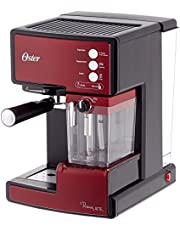 Oster Prima Cafetera automática para Cappuccino, Latte y Espresso con Tratamiento, 1.5 l Agua, 300 ml depósito para Leche, 1238 W, 1 Cups, Acero inoxidable
