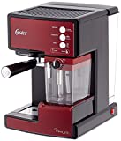 Oster - BVSTEM6601S-050 Prima Latte - Machine à Espresso avec Mousseur à Lait - Inox 15 Bars